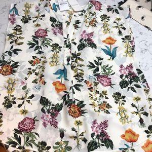 Pleione sleeveless tunic  NWT Ivy Floral Medium